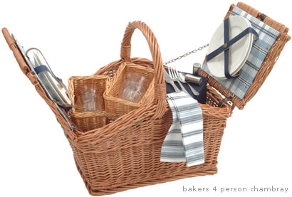 Optima Bakers Picnic Basket for 4 people