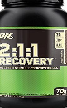 Optimum Nutrition 2:1:1 Replenishment and Recovery Powder Chocolate 1.695kg