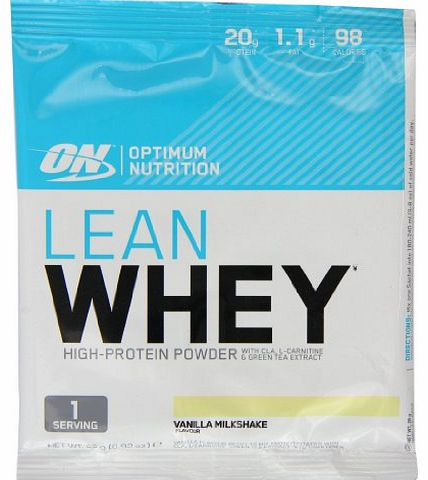 Optimum Nutrition 26g Vanilla Lean Whey - Pack of 24 Sachets