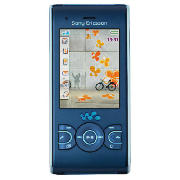 Sony Ericsson W595i Mobile Phone Blue