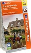 Ordnance Survey, 1296[^]229641 Explorer The Cotswolds Map