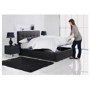 Orleans Double Faux Leather Storage Bed, Black, product image