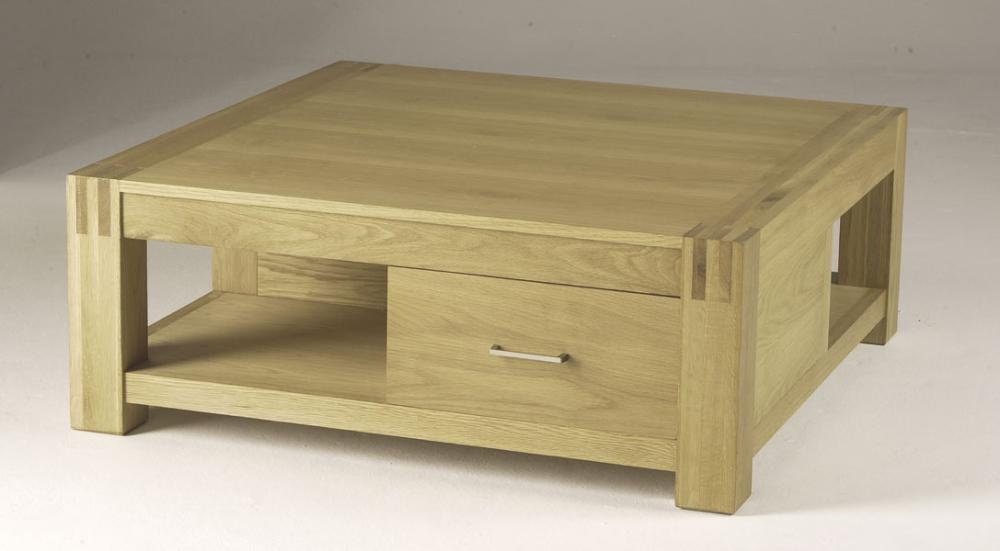 Orly Oak Square Coffee Table With Drawers Review Compare Prices