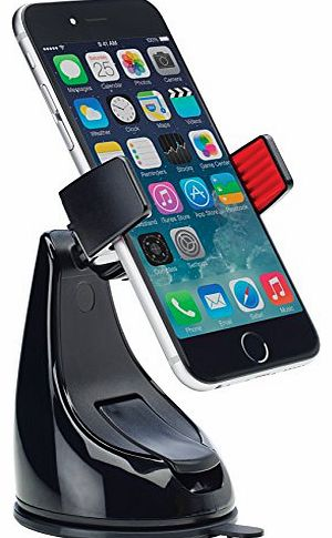 360 Grip Mount - Black - Universal in Car Holder for iPhone 6/ 6 Plus / 5s /5c /4/4s Samsung Galaxy S5 /S4 /S3 / Note 4/3 & Other Smartphones