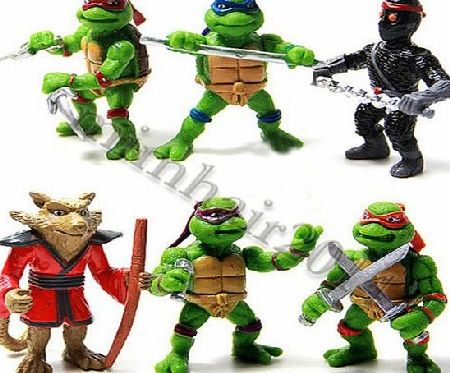 Other 6Pcs Teenage Mutant Ninja Turtles TMNT Action Figures Collection Toys Set Gift