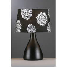 Nara Complete Table Lamp Black Floral