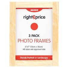 Right Price Photo Frames Pine 5inx7in/13cmx18cm