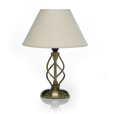 Wilko Antique Swirl Table Lamp with Hessian Shade