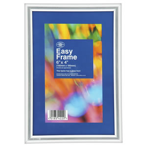 Wilko Easy Frame Silver Effect 6inx4in