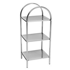 Wilko Free Standing Shelf 3 Tier Chrome