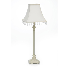 Wilko Pharos Candlestick Table Lamp with Beaded