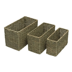 Wilko Seagrass Baskets Set of 3