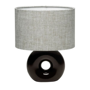 Wilko Table Lamp Doughnut Complete Chocolate