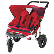 Great for use in and around town, the red Out n About V2 Nipper double buggy is ideal.  With its 360� swivel font wheel the Nipper provides effortless movement around town, if you wish to take the scenic route simply lock the front wheel into a forwa - CLICK FOR MORE INFORMATION