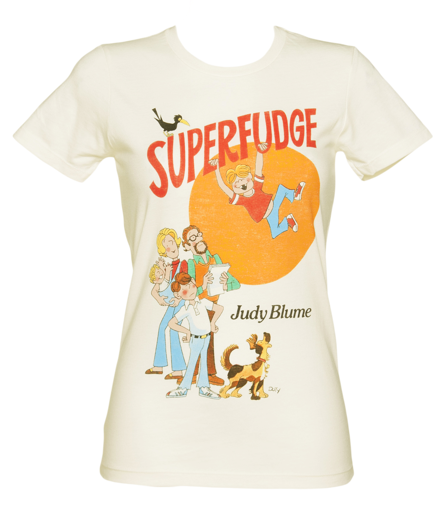 Out Of Print Ladies Ecru Superfudge By Judy Blume Book Cover product image