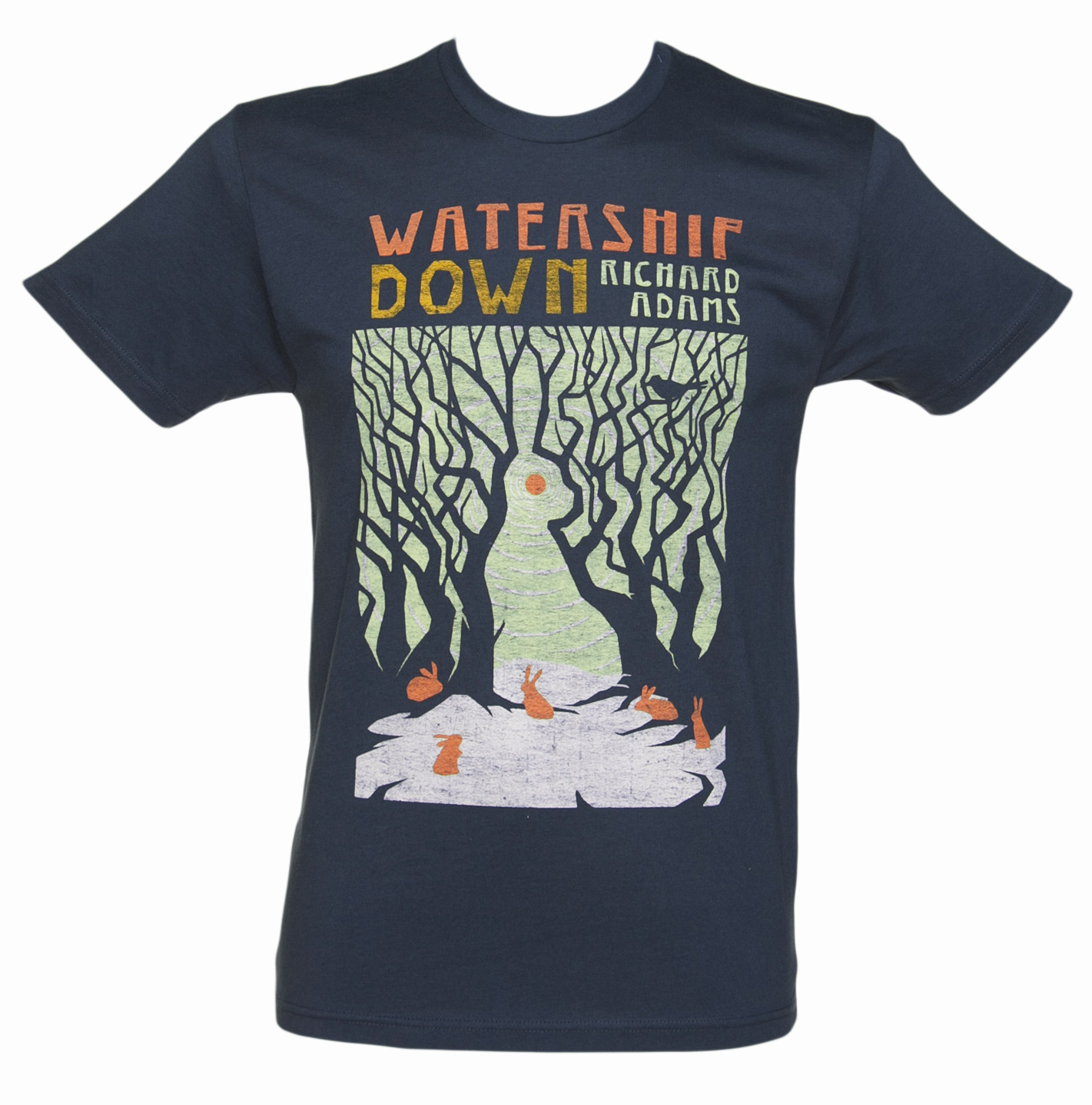 Out Of Print Mens Navy Watership Down Book Cover T-Shirt product image