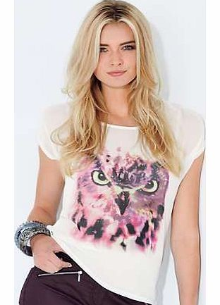 Owl Placement Print Top