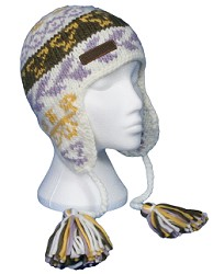 Thick knit super warm beanie with ear flaps and pigtails - CLICK FOR MORE INFORMATION