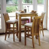 Oak Pair of Breakfast Bar Chairs