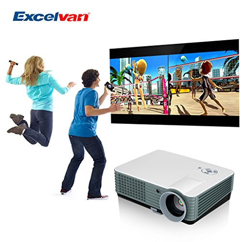 Oxford Street Excelvan® DVB-T HD LED Projector 2000 Lumens Multimedia Home Cinema Projector LCD Projector 50-140 inch Support AV/VGA/HDMI/USB/TV Input ideal for Home Theater/Entertainment/Business
