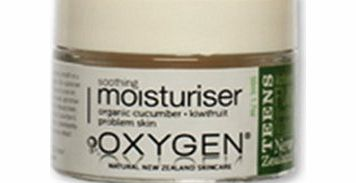 Oxygen Skincare Teen Oxygen Teen Soothing Moisturiser with Organic Cucumber and Kiwifruit for Problem Skin 50ml