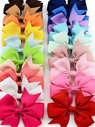 Oyedens 20PCS Big Bow Hairpins Hair Clips for Children Kids Girls Hair Accessories
