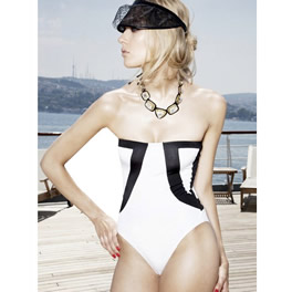 Oyefashion OYE Black/ White Strapless Nolan One-Piece product image