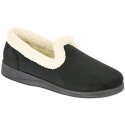 Padders Female Serena Textile Upper Textile Lining Comfort House Mules and Slippers in Black, Camel, Cranberry