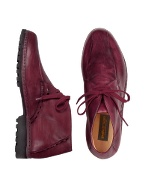 Pakerson Wine Red Handmade Italian Leather Ankle Boots