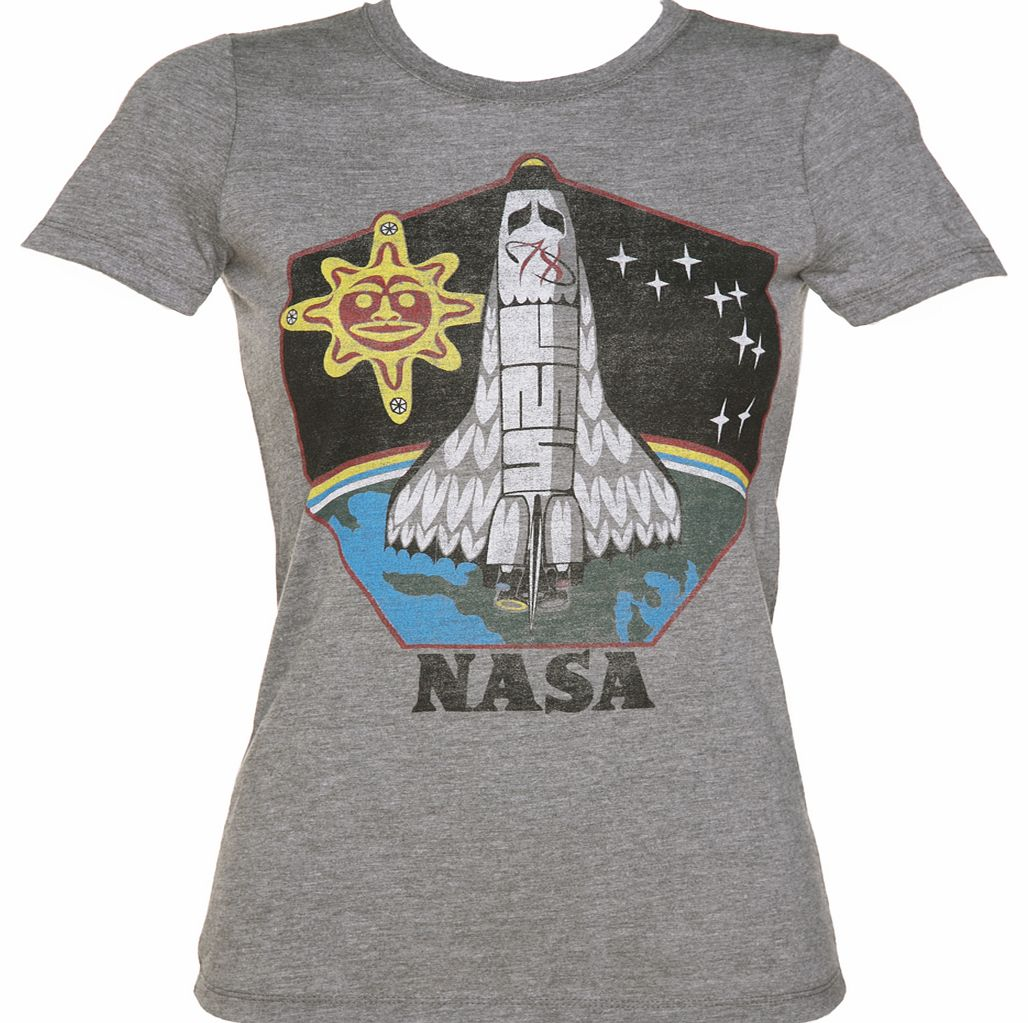 Palmercash Ladies Grey Marl Native American NASA T-Shirt product image