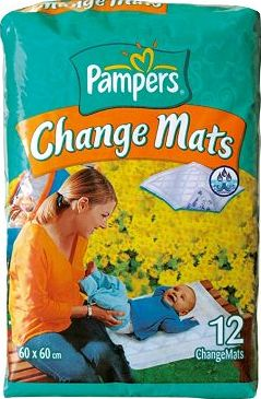 Pampers, 2041[^]10002956 Change Mats - 12 Pack NORMAL 10002956