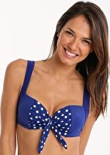 Panache, 1295[^]248885 Annalise Moulded Balconnet - Cobalt and White