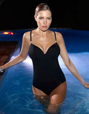 Ava Plunge Swimsuit - Black