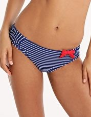 Panache, 1295[^]248922 Britt Stripe Gather Pant - Cobalt and White