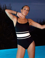 Taylor Swimsuit - Black and Ivory