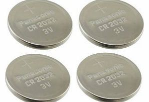 Panasonic CR2032 Battery (4 pack) - Panasonic, Lithium Coin Cell, 3V