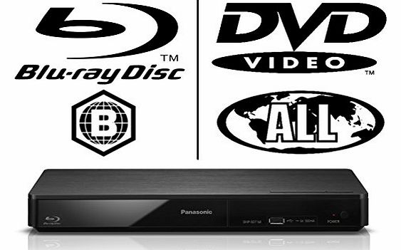 Panasonic DMPBDT160 3D Bluray Player MULTIREGION for DVD Only with FREE HDMI Cable