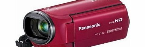 Panasonic HC-V110 EB-R Camcorder-Full HD 1080p