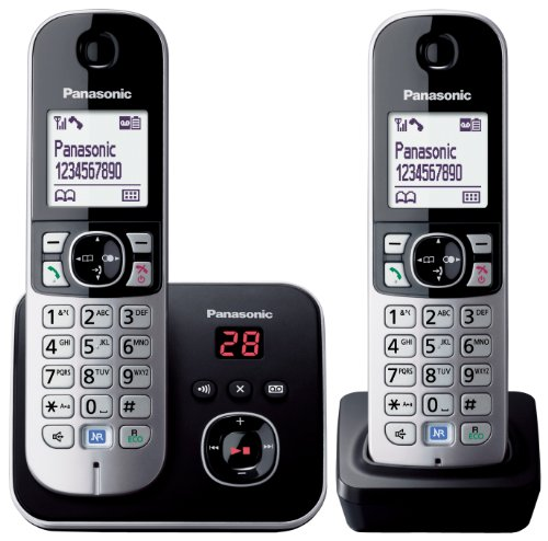 KX-TG6822EB Twin DECT Cordless Telephone Set with Answer Machine