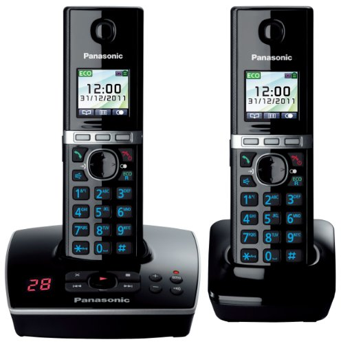 KX-TG8062EB Twin Colour DECT Phone Set with Answer Machine