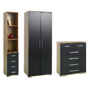 Paris Bedroom Furniture Package, Black product image