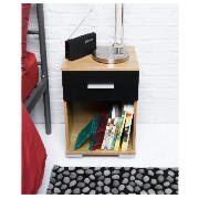 Paris Bedside Chest, Black product image