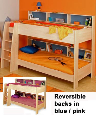 parisot bunk bed with shelves review compare prices. Black Bedroom Furniture Sets. Home Design Ideas