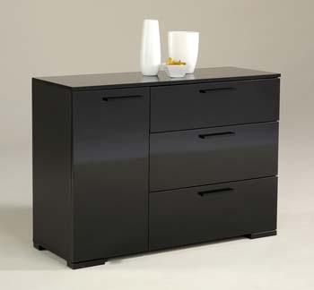 sideboard high gloss black finish. Black Bedroom Furniture Sets. Home Design Ideas