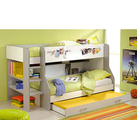 Bunk beds parisot e max bunk for Meuble japonais futon