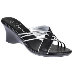 Pavers Female Brandy Casual Sandals in Black, Gold, Silver