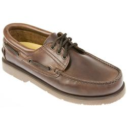 Brown Claremont Leather Boat Shoe