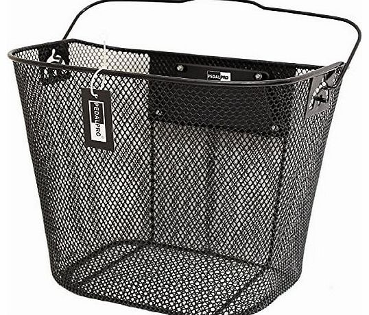 Quick Release Basket designed for Front of Bicycle/Bike in Black