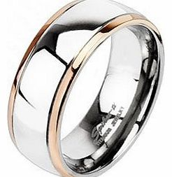 His Solid titanium Rose Gold Wedding Band Ring Size 10 Or Uk T Matching Rings For her available in our Amazon Pegasus Body Jewellery Shop