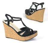 Pepe Jeans Garage Sandals - Oscar - Womens Wedge Sandal - Black Size 7 UK